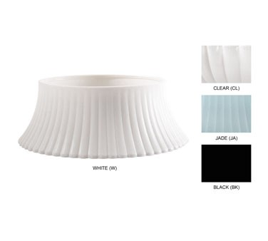 GET Mediterranean White Polycarbonate Screw-On Pedestal