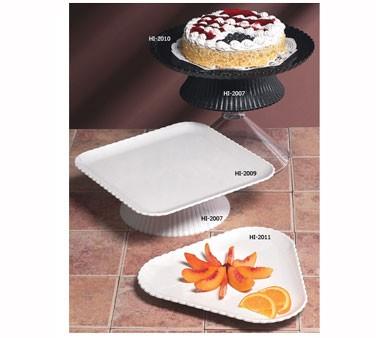"G.E.T. Enterprises HI-2009-W Mediterranean White Polycarbonate Square Plate 12"" x 12"""