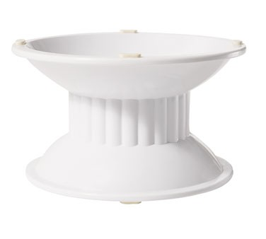 "G.E.T. Enterprises ML-106-W Melamine 4"" Tall White Pedestal"