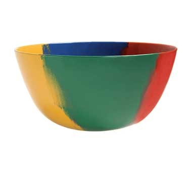 GET Melamine 5 Quart Diamond Celebration Bowl - 10-3/4
