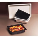 "G.E.T. Enterprises ML-17-BK 1/3 Size Black Melamine Insert Food Pan 2-1/2"" Deep"