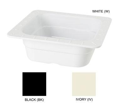 GET Melamine Black 1/6 Size Insert Pan - 2-1/2