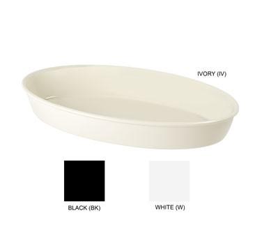 """G.E.T. Enterprises ML-183-BK Black Melamine 4.5 Qt. Oval Casserole Dish 16"""" x 10"""""""