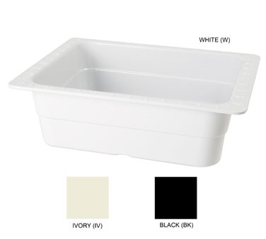 "G.E.T. Enterprises ML-21-BK Melamine Black Half-Size Food Pan 4"" Deep"