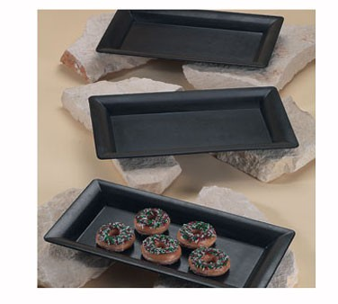 GET Melamine Black Rectangular Display Tray -10-3/8