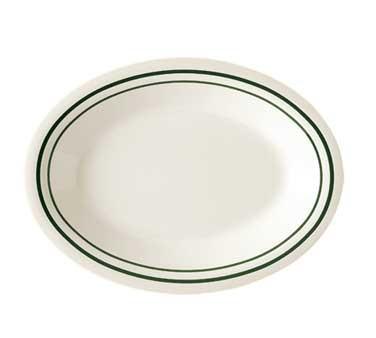 GET Melamine Centennial Emerald Oval Platter - 12