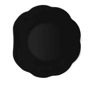 GET Melamine Diamond Black Scalloped-Edge Plate - 8
