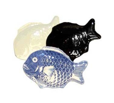 GET Melamine Shell Series Black Fish Platter - 10