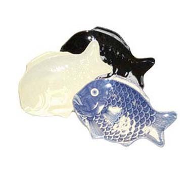 GET Melamine Shell Series Black Fish Platter - 14