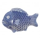 "G.E.T. Enterprises 370-14-BL Creative Table Blue Fish Platter, 14"" x 10"