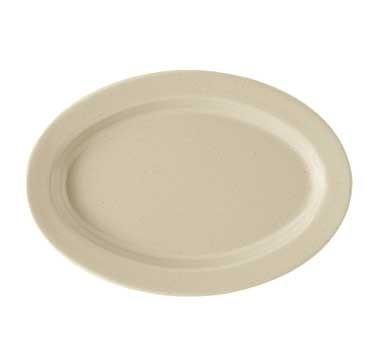 "G.E.T. Enterprises OP-115-S Tahoe Sandstone Melamine Oval Platter, 11-1/2"" x 8"""