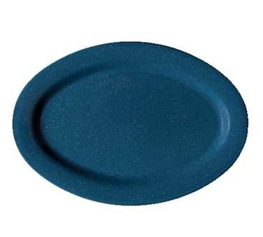 GET Melamine  Blue Oval Platter - 11-1/2