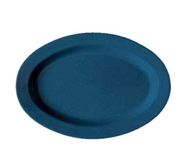 "G.E.T. Enterprises OP-215-TB Texas Blue Melamine Oval Platter, 11-1/2"" x 8"""