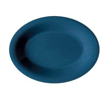 GET Melamine Texas Blue Oval Platter - 12