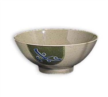 G.E.T. Enterprises 257-TD Traditional Japanese 15 oz. Soup/Rice Melamine Bowl