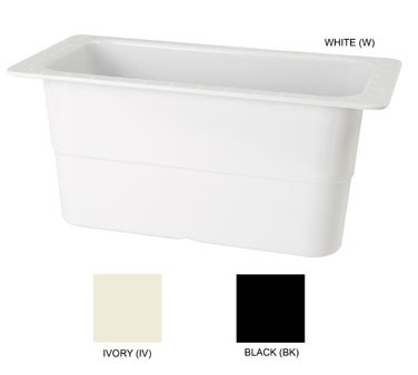 GET Melamine White 1/3 Size Food Pan - 6