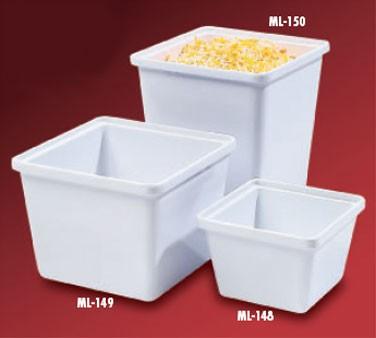 "G.E.T. Enterprises ML-150-W White Melamine 3 Qt. Square Salad Crock 6-1/4"" x 6-1/4"""