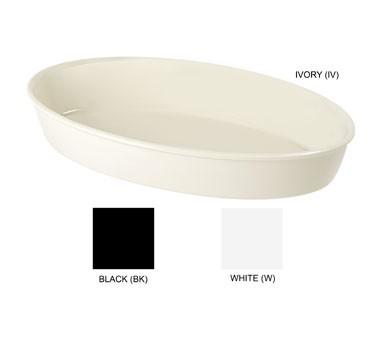 """G.E.T. Enterprises ML-184-W White Melamine 9 Qt. Oval Casserole Dish 16"""" x 10"""""""