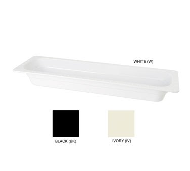 "G.E.T. Enterprises ML-158-W Half-Long White Melamine Insert Pan 2-1/2"" Deep"