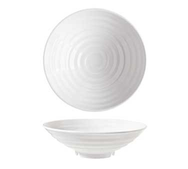 G.E.T. Enterprises ML-79-W Milano 1.5 Qt. Melamine White Round Bowl