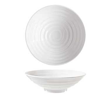 G.E.T. Enterprises ML-78-W Milano 1 Qt. Melamine White Round Bowl