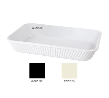 "G.E.T. Enterprises ML-156-BK Milano 3 Qt. Black Rectangular Casserole Dish 13-1/4"" x 9"""