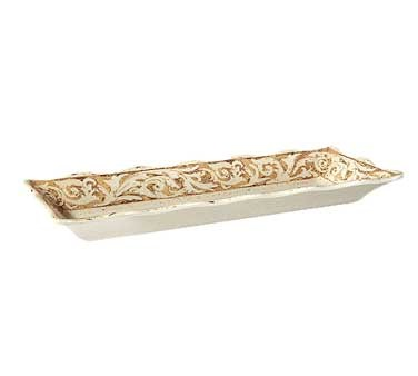 "G.E.T. Enterprises ML-87-OL Olympia Melamine Rectangular Tray 17-1/4"" x 6-5/8"""