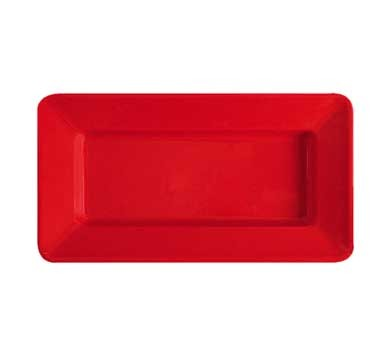 "G.E.T. Enterprises ML-10-RSP Red Sensation Melamine Rectangular Plate 15"" x 8"""