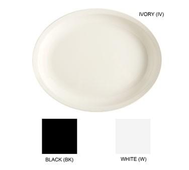 "G.E.T. Enterprises ML-181-W Milano White Melamine Oval Platter, 15"" x 12"""