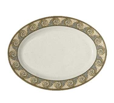 GET Milano Mosaic Melamine Oval Platter - 18
