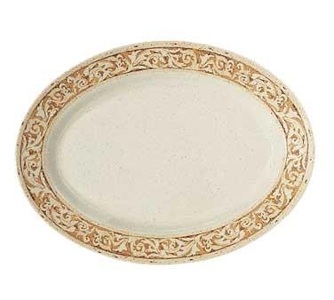 """G.E.T. Enterprises OP-618-OL Olympia Melamine Oval Platter, 18"""" x 13-1/2"""""""