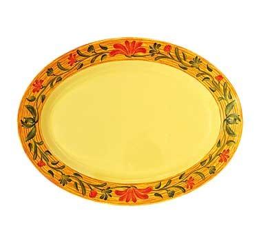 GET Milano Venetian Melamine Oval Platter - 18