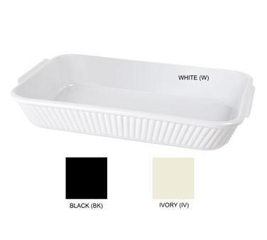 GET Milano White 2.8 Quart Oval Casserole Dish - 12-3/4