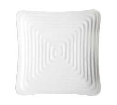 G.E.T. Enterprises ML-63-W Milano White Melamine Square Plate 10-1/4""