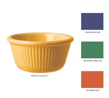 G.E.T. Enterprises RM-389-MIx Mardi Gras Mix Pack Melamine 3 oz. Fluted Ramekin