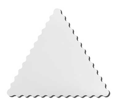 G.E.T. Enterprises ML-187-W Modern Edge White Melamine Triangle Tray 18-1/2""