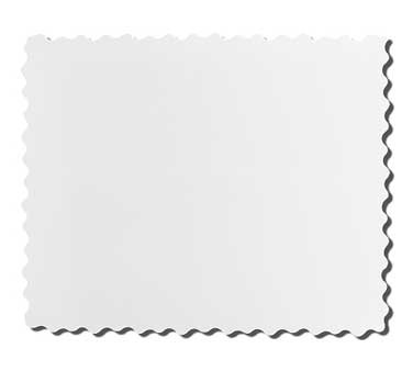 GET Modern Edge White Rectangular Tray - 23-3/4
