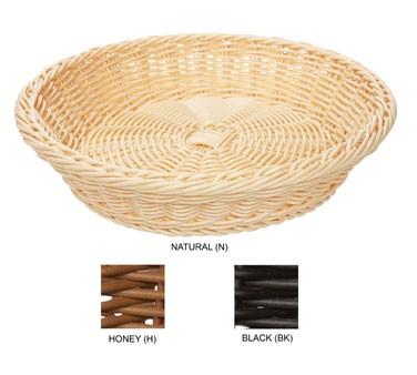 "G.E.T. Enterprises WB-1502-N Natural Designer Polyweave Round Basket 11-1/2"""