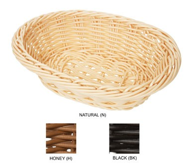 "G.E.T. Enterprises WB-1503-N Natural Designer Polyweave Oval Basket 9"" x 6-3/4"""