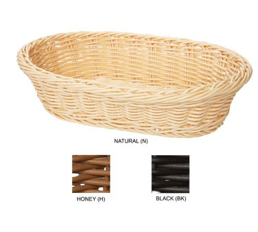 "G.E.T. Enterprises WB-1505-N Natural Designer Polyweave Oval Basket 11-3/4"" x 8"""