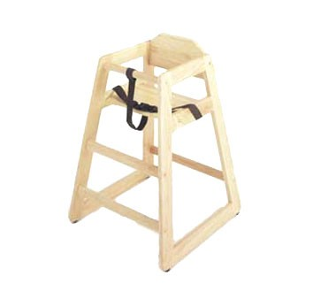 GET Natural Finish Hardwood Assembled High Chair - 2 Units