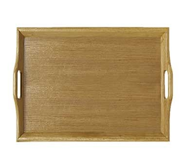 "G.E.T. Enterprises RST-1814-N Natural Hardwood Room Service Tray 18"" x 14"""