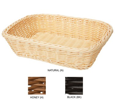GET Natural Polyweave Rectangular Capri Basket - 11-1/2