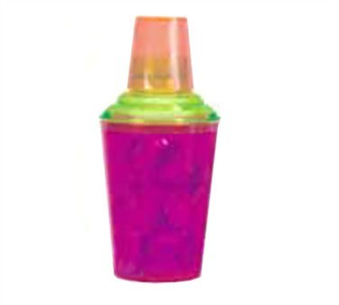 GET Neon SAN Plastic 3-Piece Cocktail Shaker Set