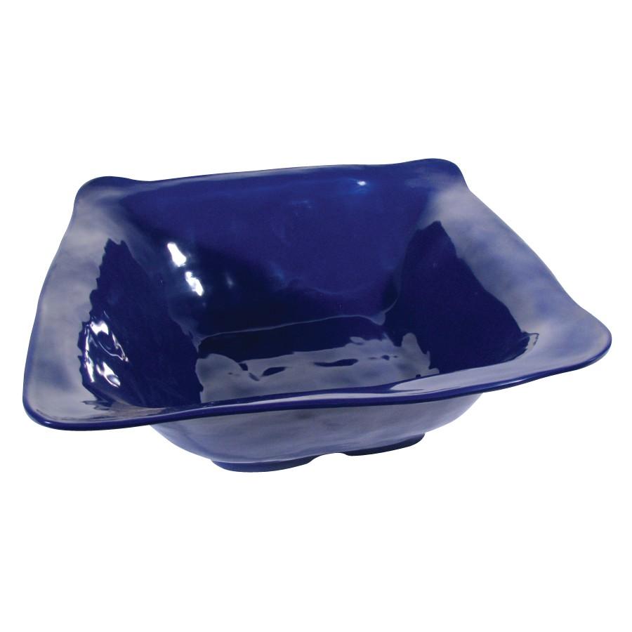 "G.E.T. Enterprises ML-131-CB New Yorker 4.25 Qt. Cobalt Blue Square Bowl 13"" x 13"""