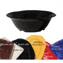 "G.E.T. Enterprises ML-134-BK New Yorker 6.5 Qt. Melamine Black Round Bowl 16"" Dia."