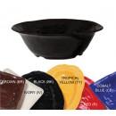 "G.E.T. Enterprises ML-134-BK New Yorker 6.5 Qt. Melamine Black Round Bowl 16"" Dia."