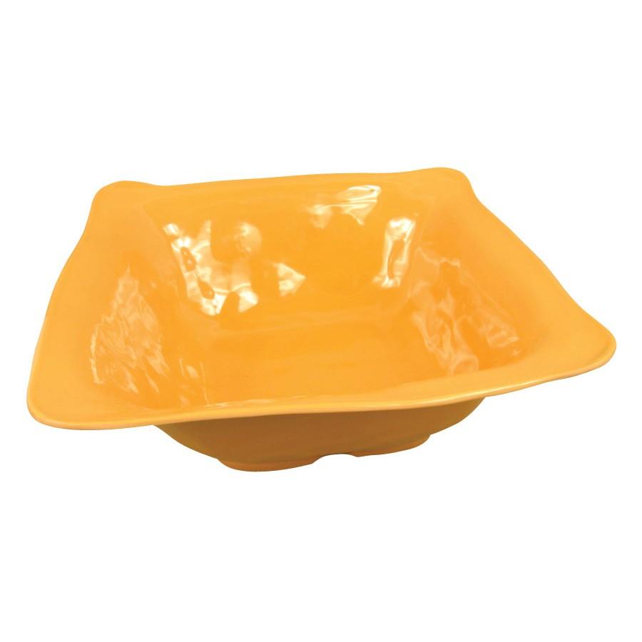 "G.E.T. Enterprises ML-132-TY New Yorker 6 Qt. Tropical Yellow Square Bowl 15"" x 15"""