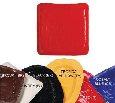 GET New Yorker Melamine Cobalt Blue Square Plate - 16