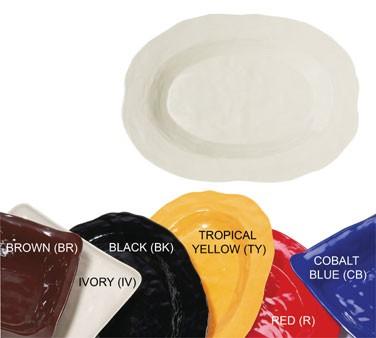 GET New Yorker Melamine Cobalt Blue Oval Platter - 21